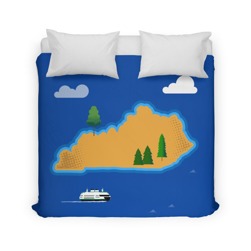 Kentucky Island Home Duvet by Illustrations by Phil