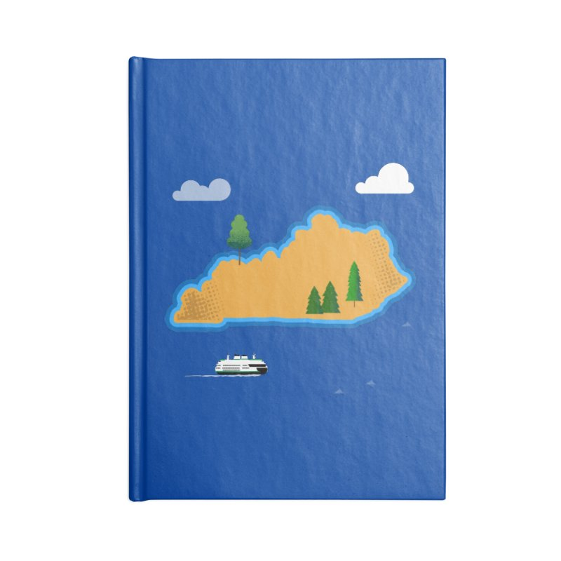 Kentucky Island Accessories Blank Journal Notebook by Illustrations by Phil