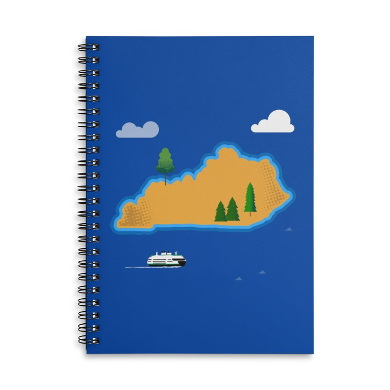 Kentucky Island Accessories Lined Spiral Notebook by Illustrations by Phil