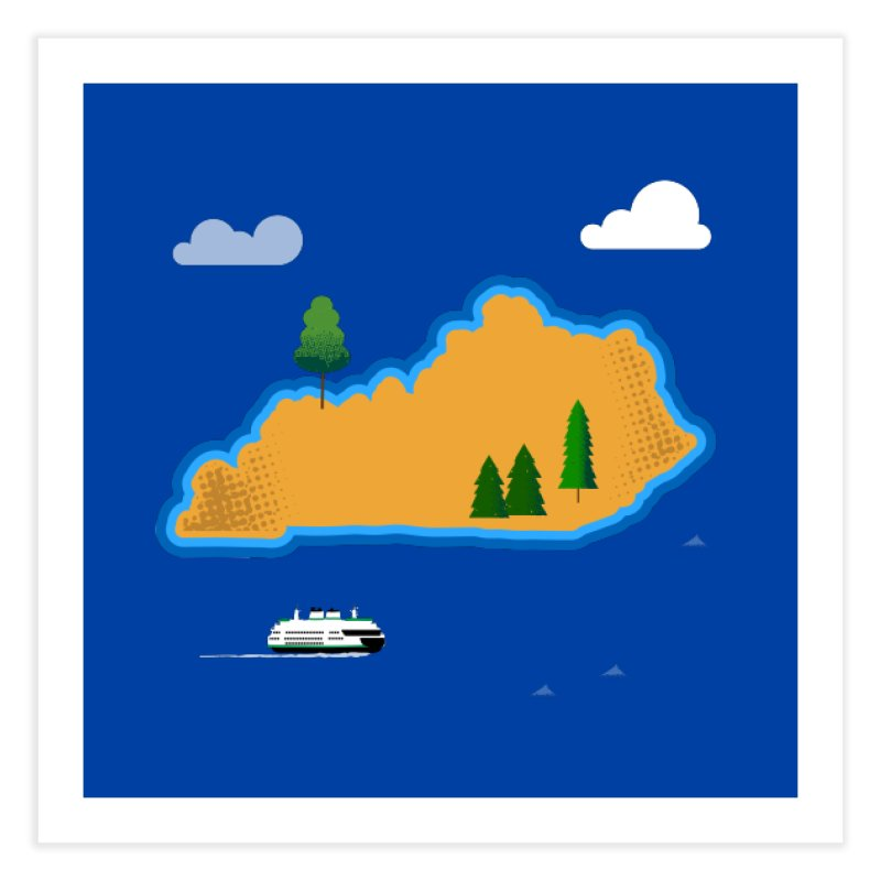 Kentucky Island Home Fine Art Print by Illustrations by Phil