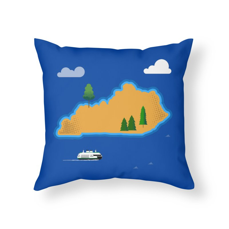 Kentucky Island Home Throw Pillow by Illustrations by Phil