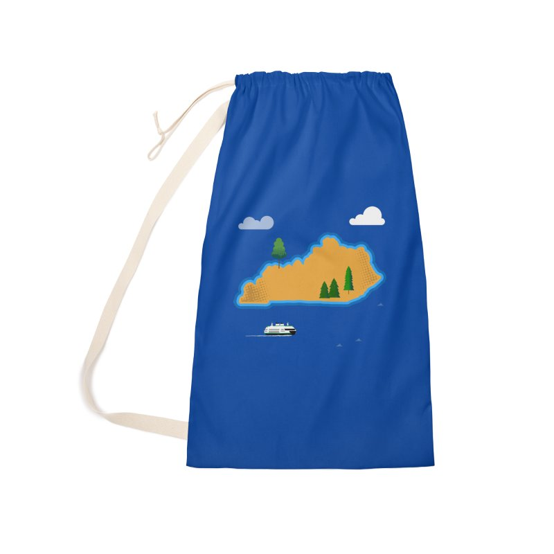 Kentucky Island Accessories Laundry Bag Bag by Illustrations by Phil