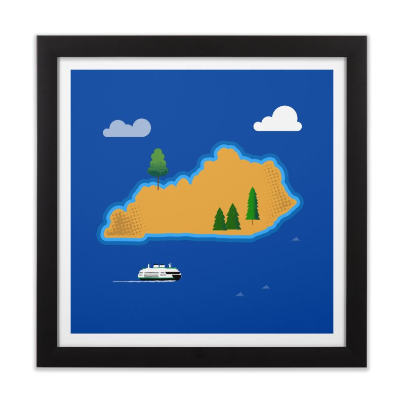 Kentucky Island Home Framed Fine Art Print by Illustrations by Phil