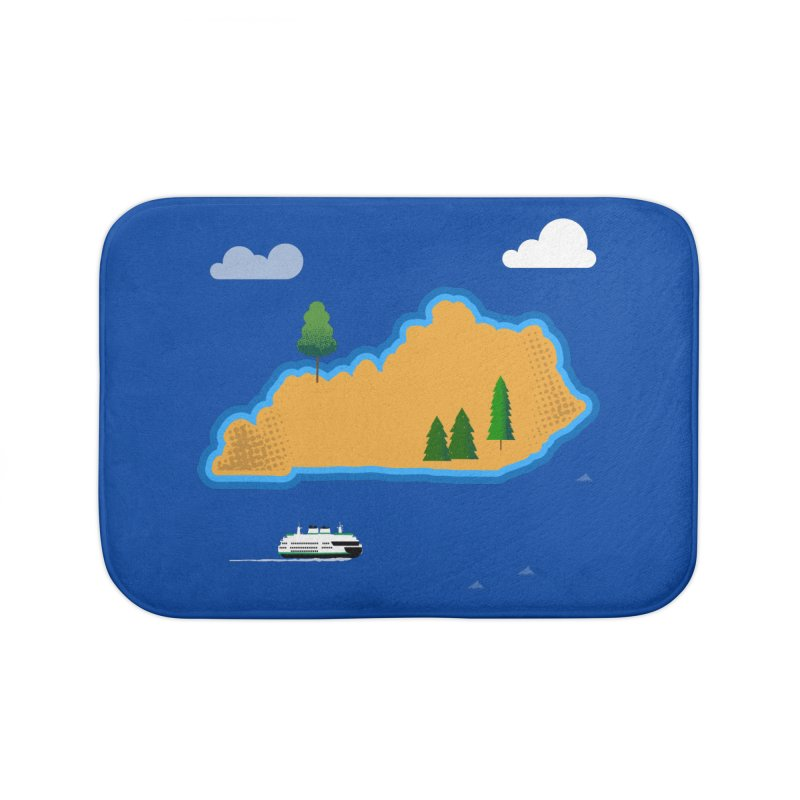 Kentucky Island Home Bath Mat by Illustrations by Phil
