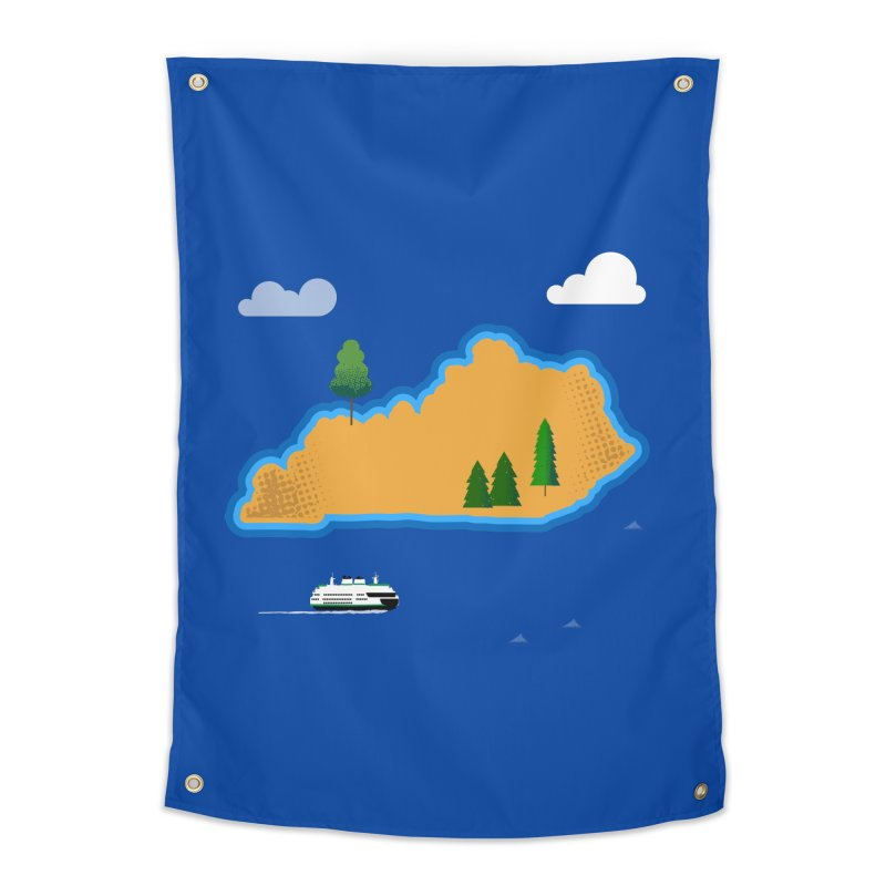 Kentucky Island Home Tapestry by Illustrations by Phil