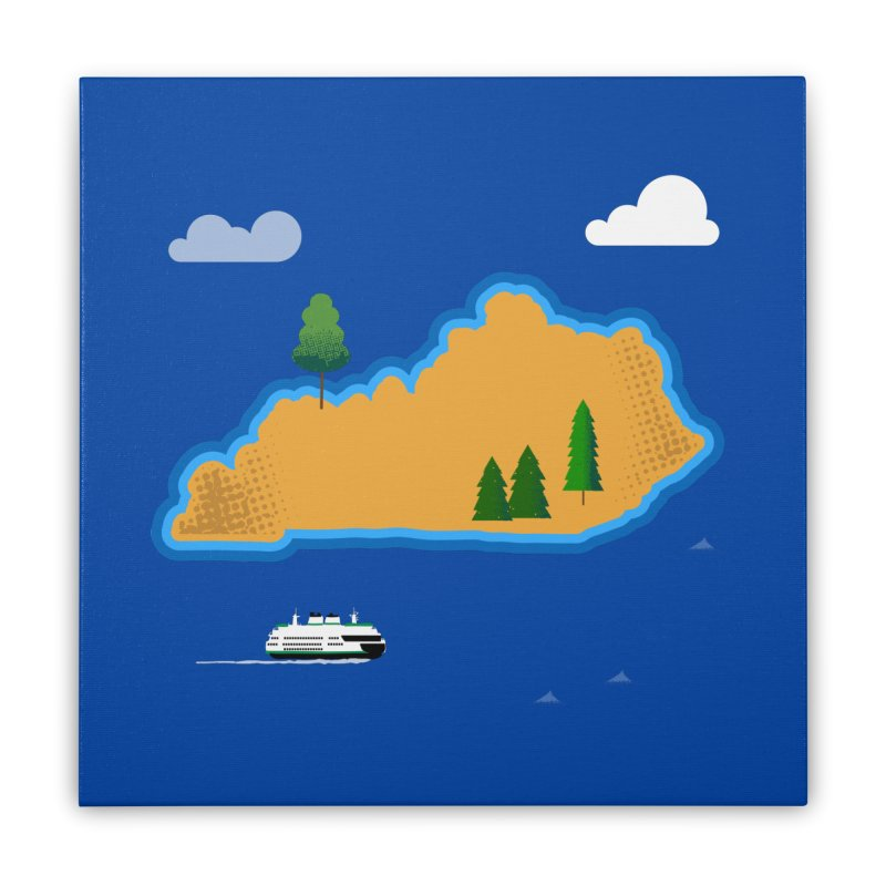 Kentucky Island Home Stretched Canvas by Illustrations by Phil