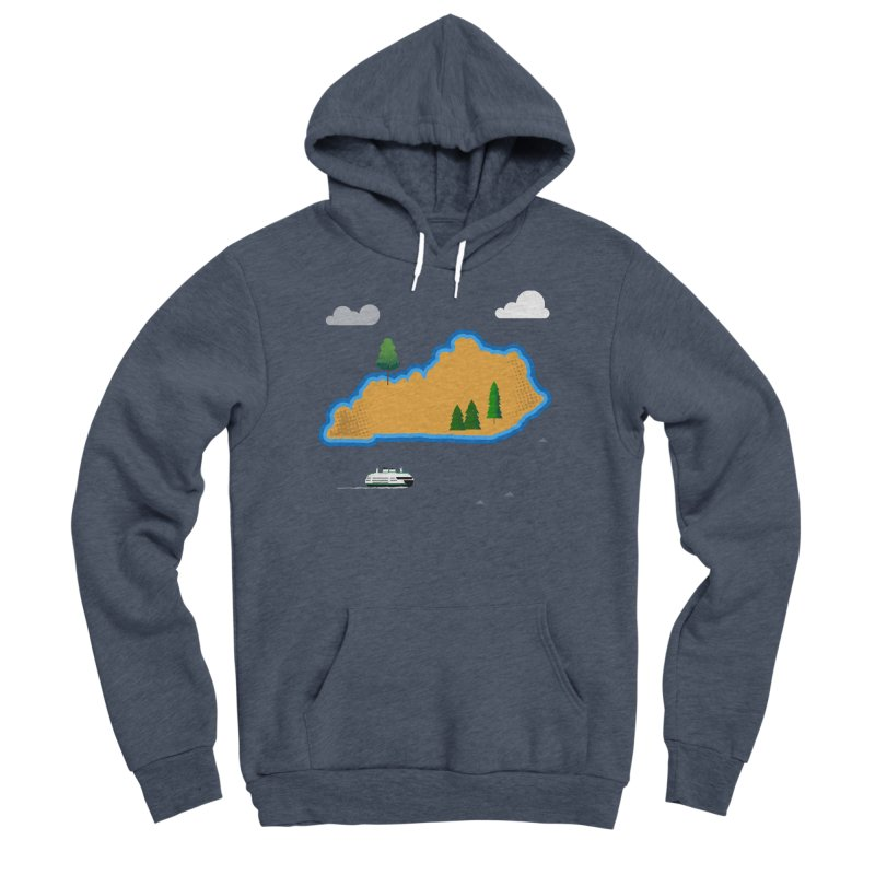 Kentucky Island Men's Sponge Fleece Pullover Hoody by Illustrations by Phil