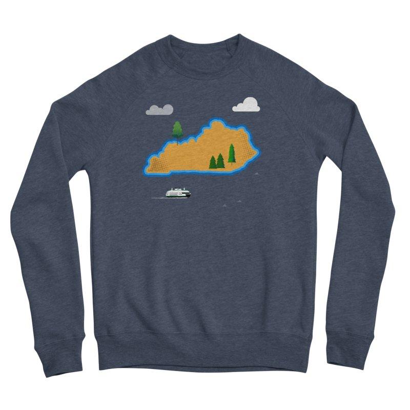 Kentucky Island Men's Sponge Fleece Sweatshirt by Illustrations by Phil