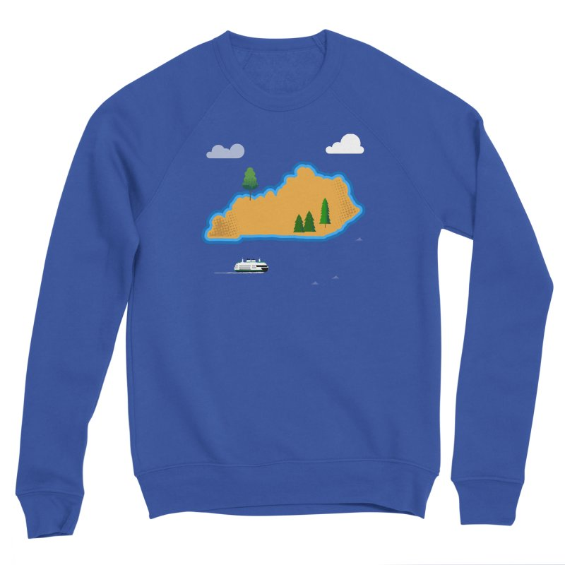 Kentucky Island Men's Sponge Fleece Sweatshirt by Illustrations by Phil