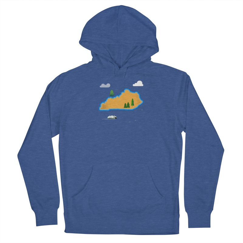 Kentucky Island Women's French Terry Pullover Hoody by Illustrations by Phil
