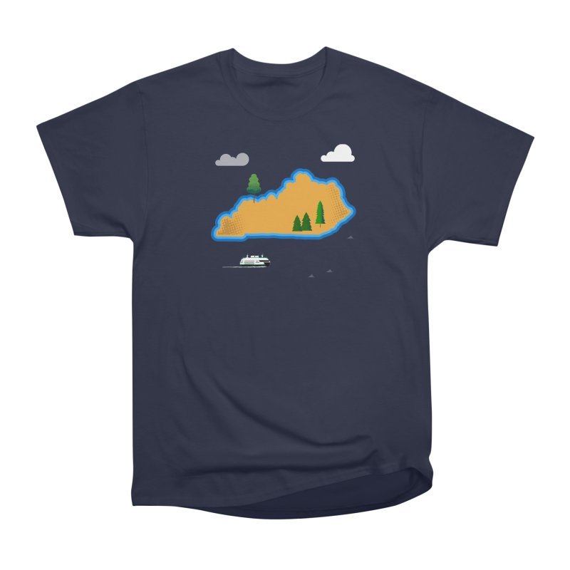 Kentucky Island Men's Heavyweight T-Shirt by Illustrations by Phil