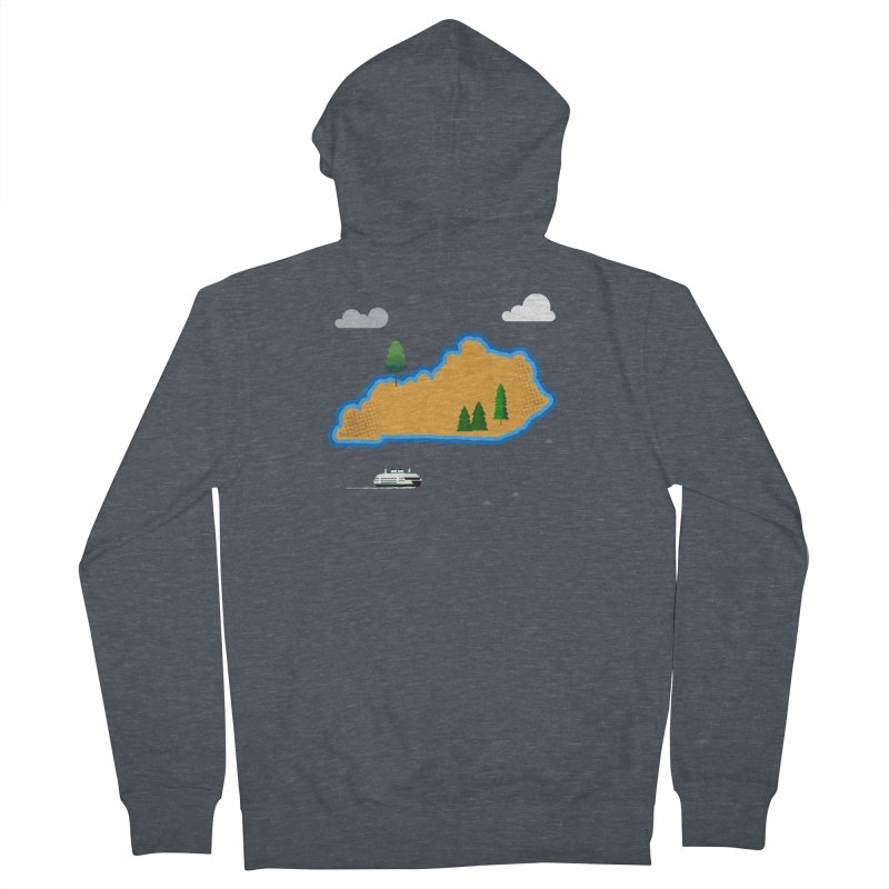 Kentucky Island Women's French Terry Zip-Up Hoody by Illustrations by Phil