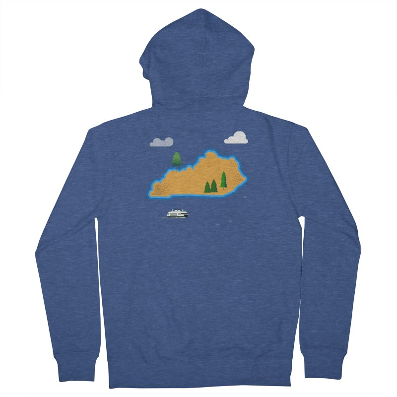Kentucky Island Men's French Terry Zip-Up Hoody by Illustrations by Phil