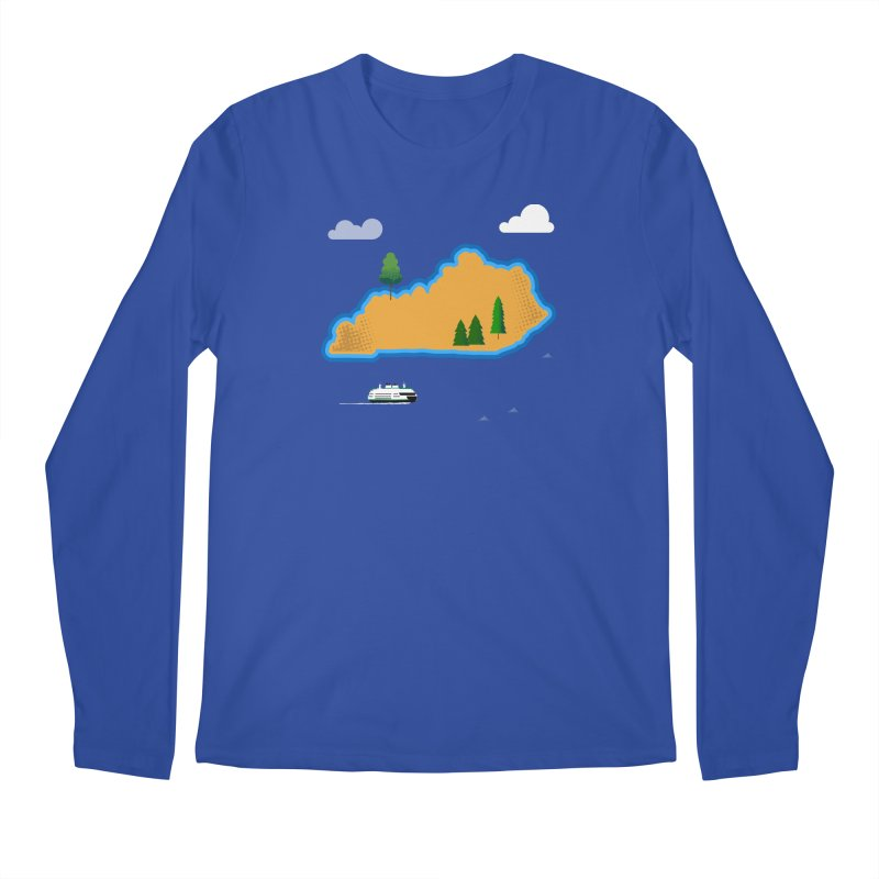 Kentucky Island Men's Regular Longsleeve T-Shirt by Illustrations by Phil