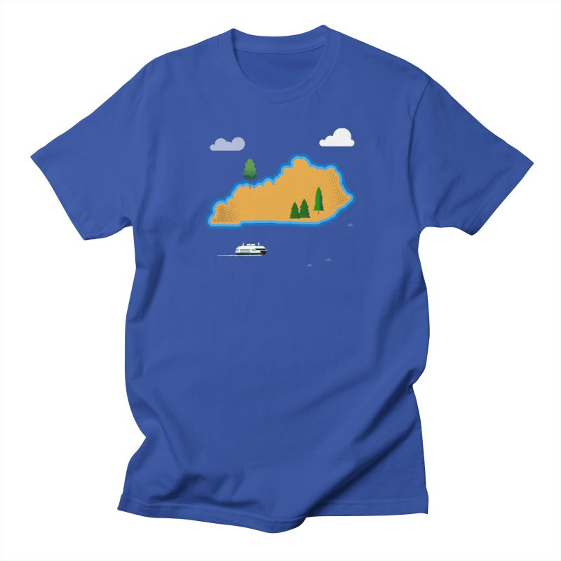 Kentucky Island Men's Regular T-Shirt by Illustrations by Phil
