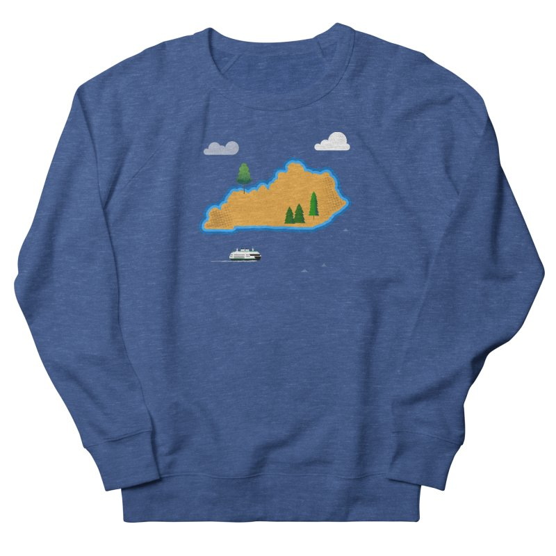 Kentucky Island Women's French Terry Sweatshirt by Illustrations by Phil