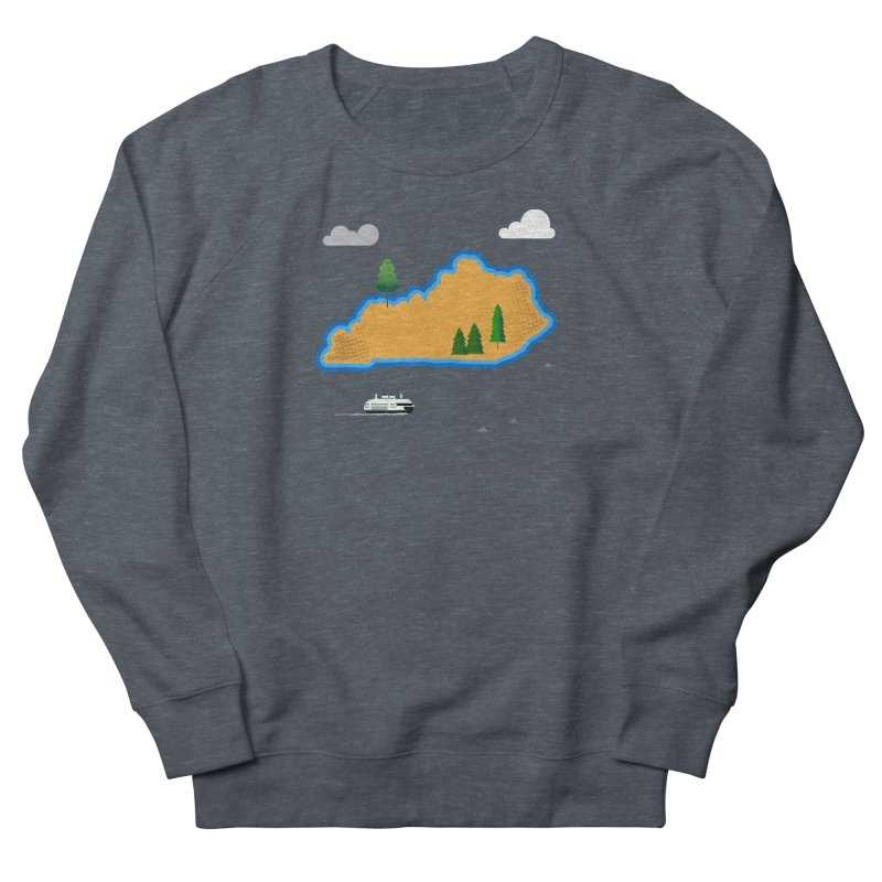 Kentucky Island Men's French Terry Sweatshirt by Illustrations by Phil
