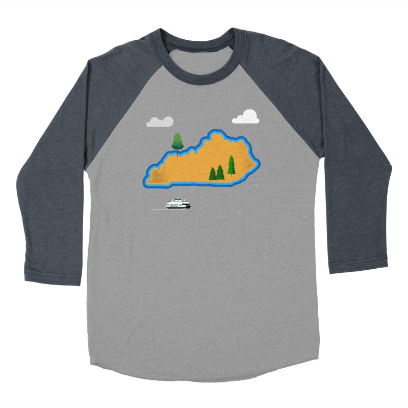 Kentucky Island Men's Baseball Triblend Longsleeve T-Shirt by Illustrations by Phil