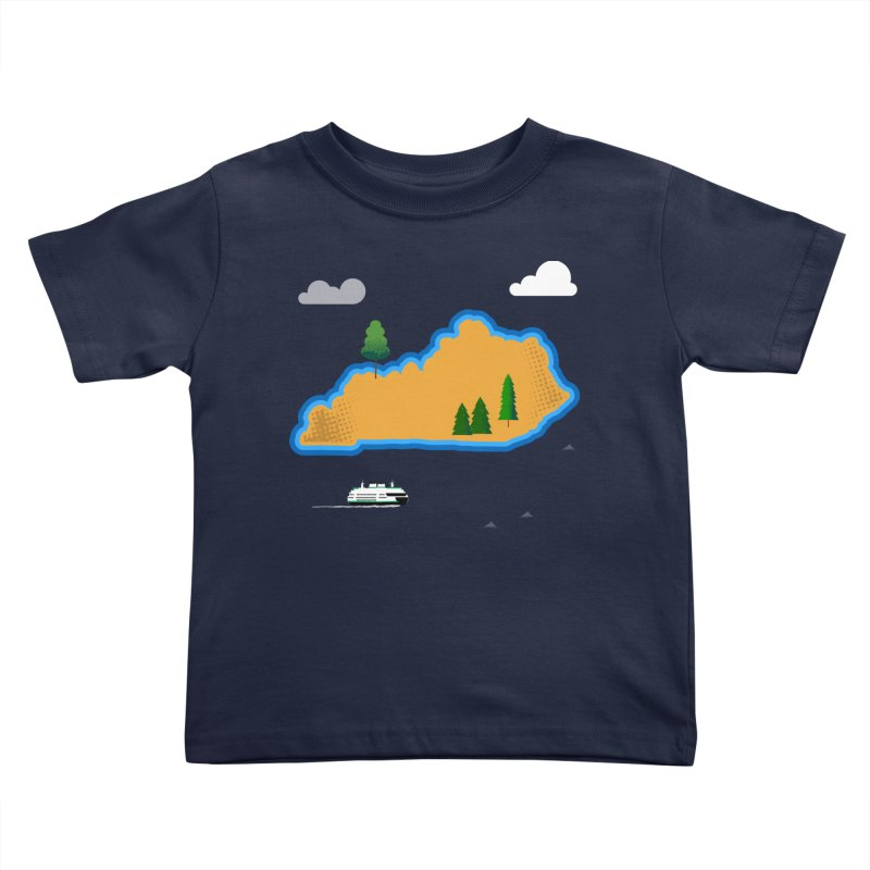 Kentucky Island Kids Toddler T-Shirt by Illustrations by Phil