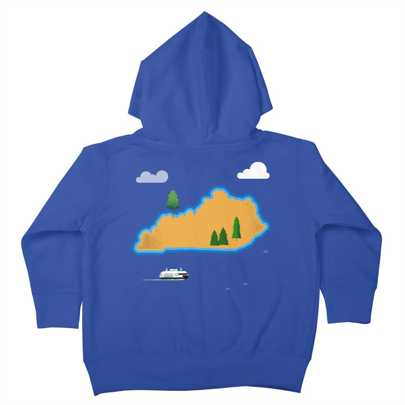 Kentucky Island Kids Toddler Zip-Up Hoody by Illustrations by Phil