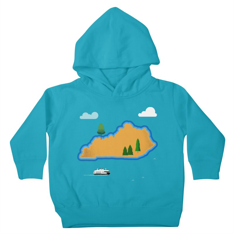 Kentucky Island Kids Toddler Pullover Hoody by Illustrations by Phil