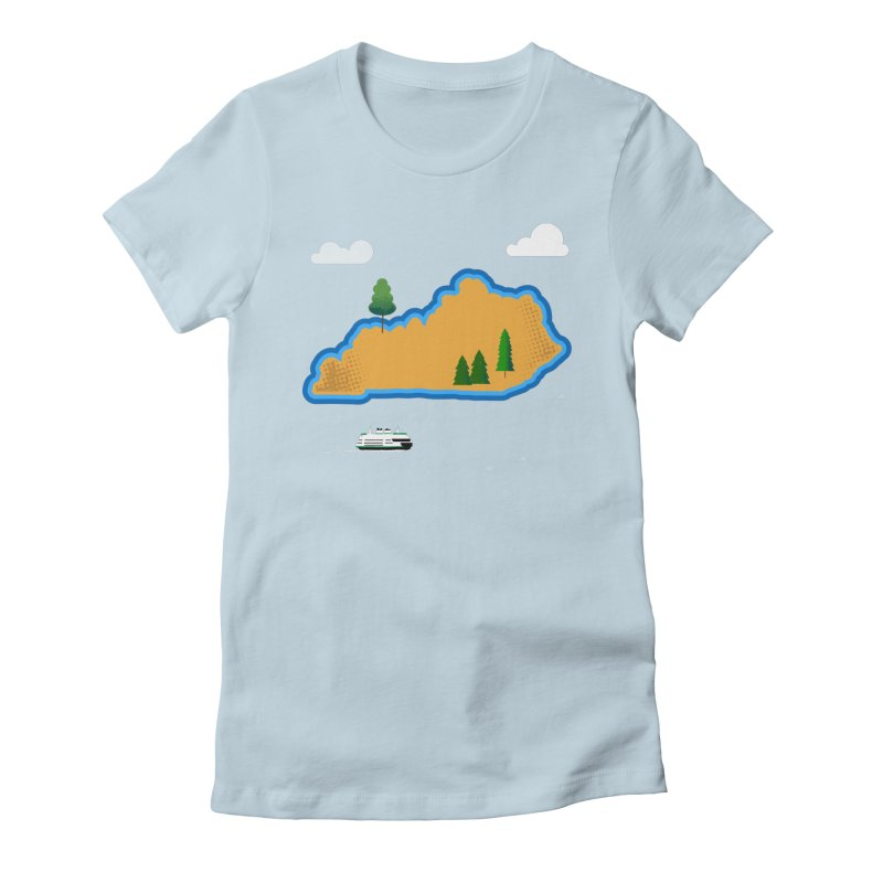 Kentucky Island Women's Fitted T-Shirt by Illustrations by Phil