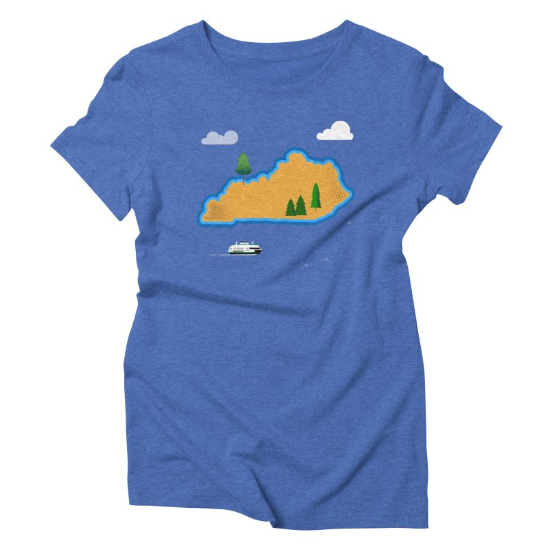 Kentucky Island Women's Triblend T-Shirt by Illustrations by Phil