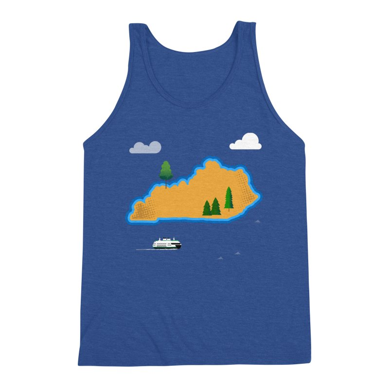 Kentucky Island Men's Triblend Tank by Illustrations by Phil