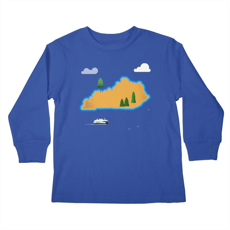 Kentucky Island Kids Longsleeve T-Shirt by Illustrations by Phil