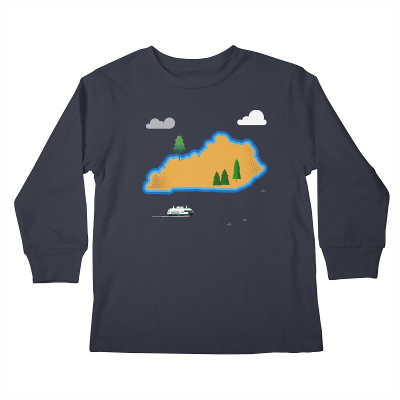 Kentucky Island Kids Longsleeve T-Shirt by Illustrations by Phil
