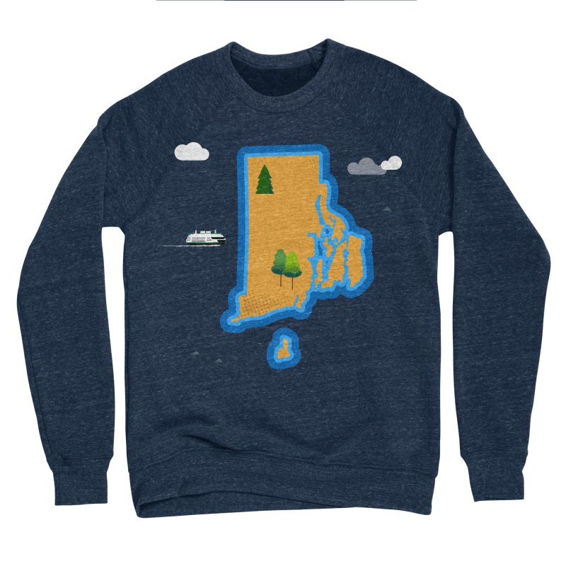 Rhode Island island Women's Sponge Fleece Sweatshirt by Illustrations by Phil