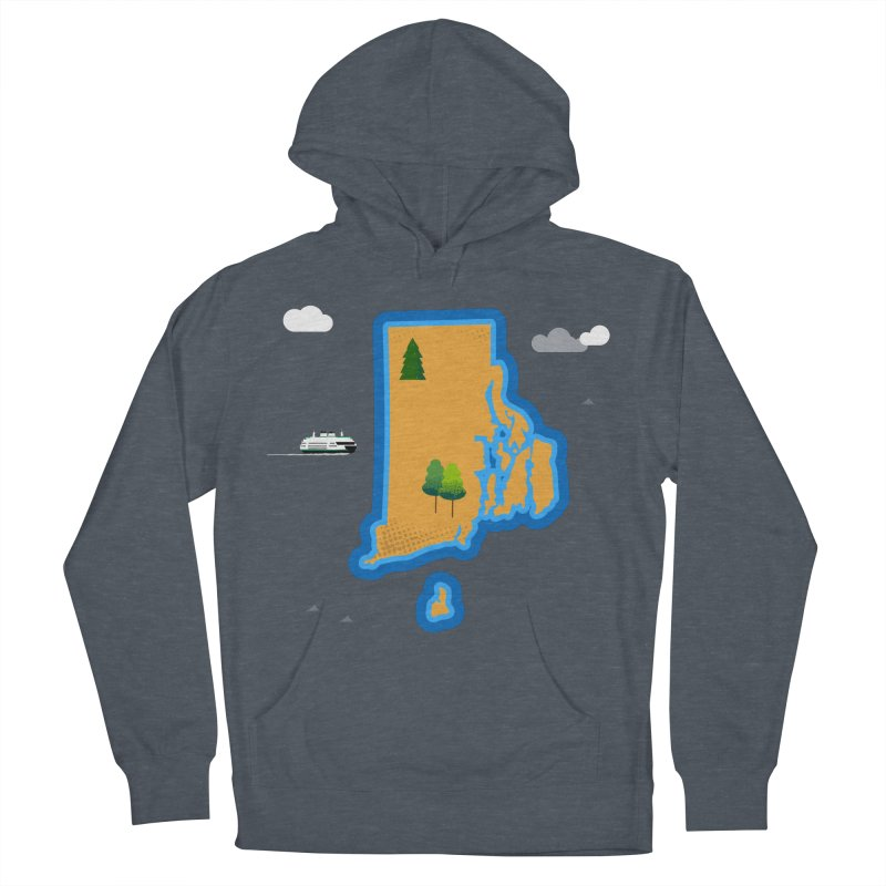 Rhode Island island Men's French Terry Pullover Hoody by Illustrations by Phil