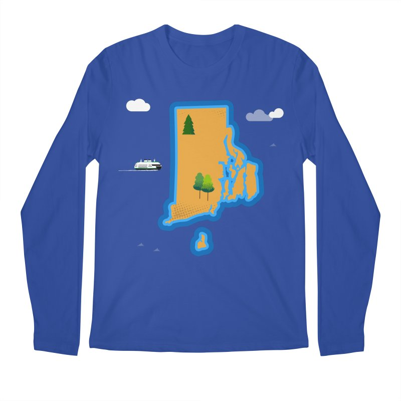 Rhode Island island Men's Regular Longsleeve T-Shirt by Illustrations by Phil