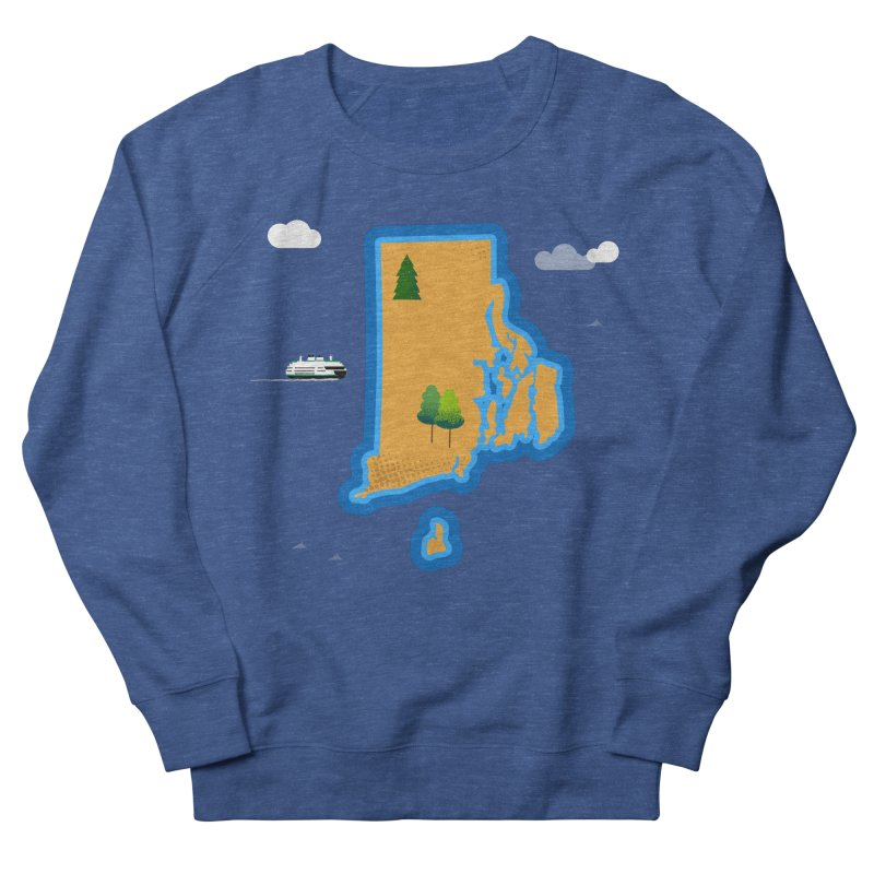 Rhode Island island Women's French Terry Sweatshirt by Illustrations by Phil