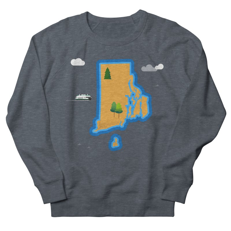 Rhode Island island Men's French Terry Sweatshirt by Illustrations by Phil