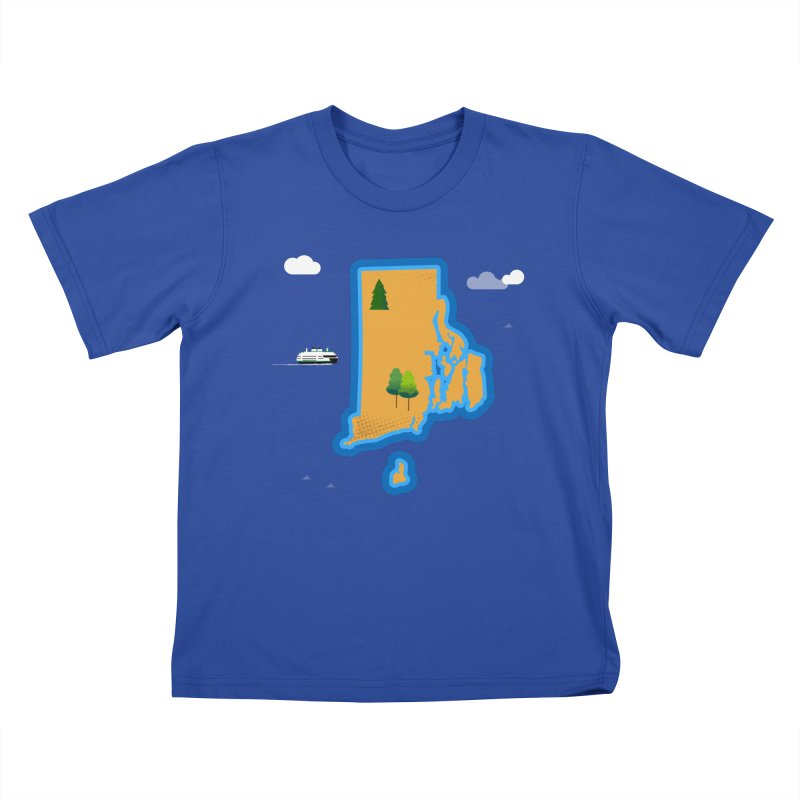 Rhode Island island Kids T-Shirt by Illustrations by Phil