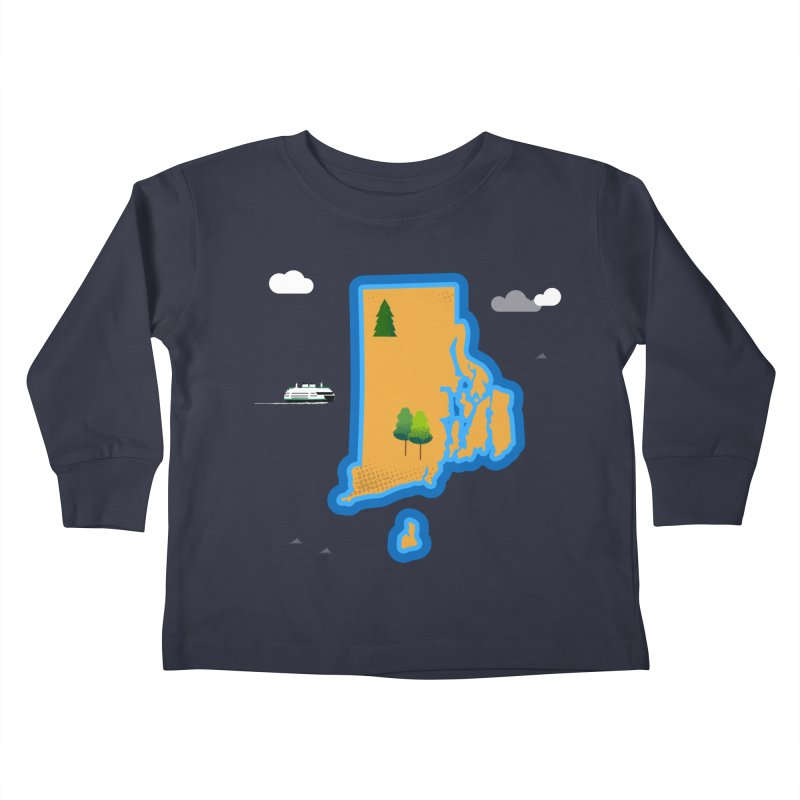Rhode Island island Kids Toddler Longsleeve T-Shirt by Illustrations by Phil