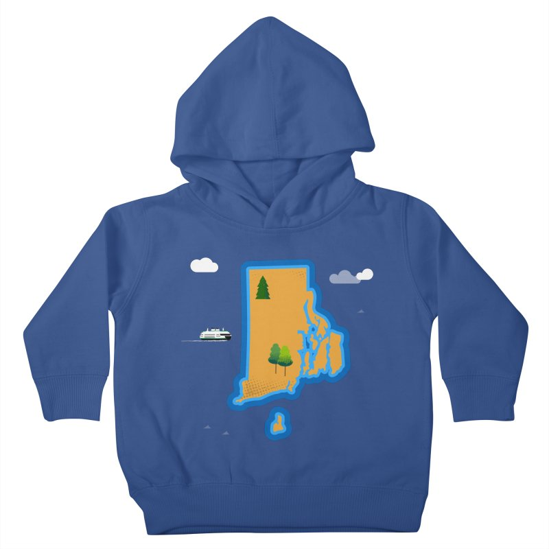 Rhode Island island Kids Toddler Pullover Hoody by Illustrations by Phil