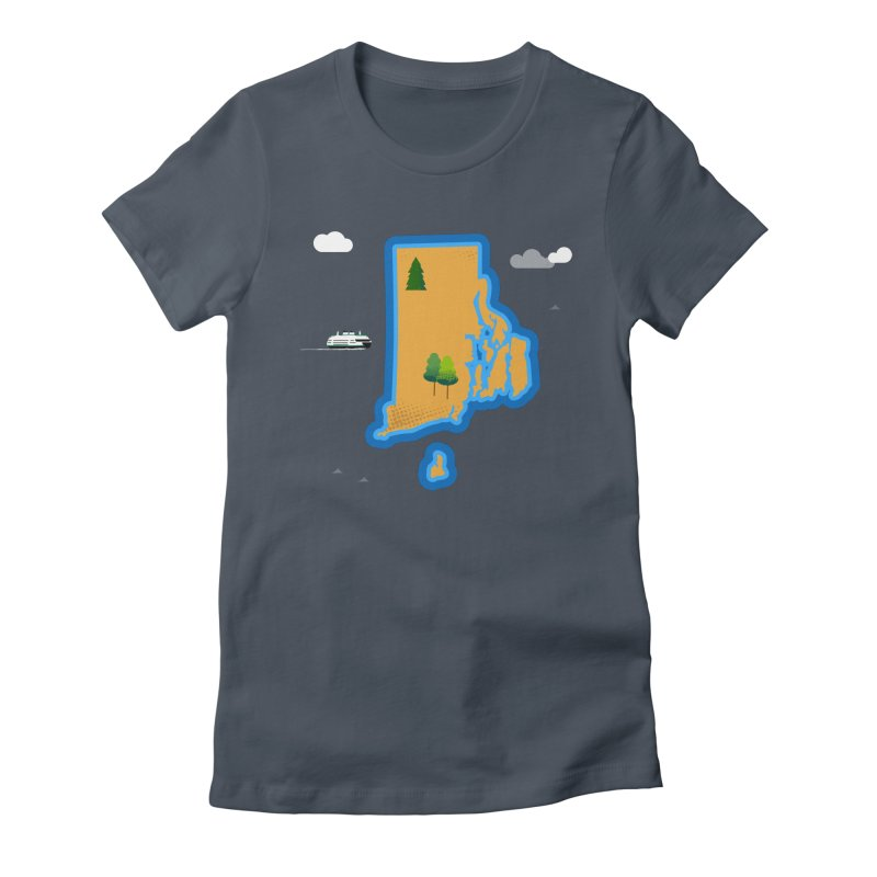 Rhode Island island Women's Fitted T-Shirt by Illustrations by Phil
