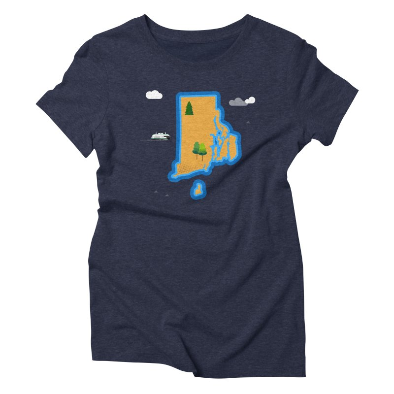 Rhode Island island Women's Triblend T-Shirt by Illustrations by Phil