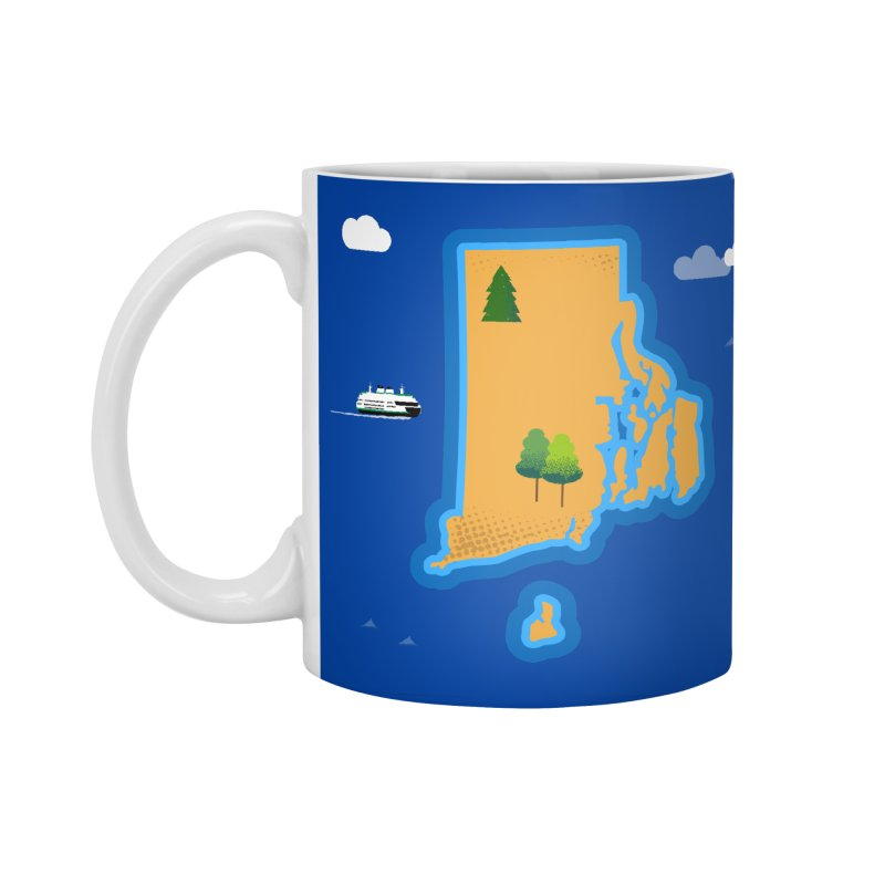 Rhode Island island Accessories Standard Mug by Illustrations by Phil