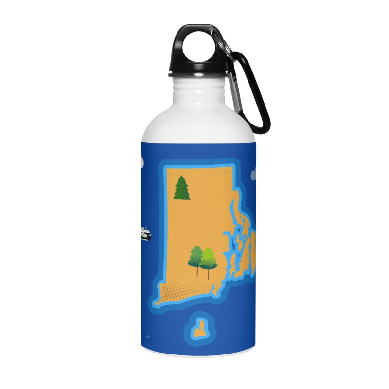 Rhode Island island Accessories Water Bottle by Illustrations by Phil