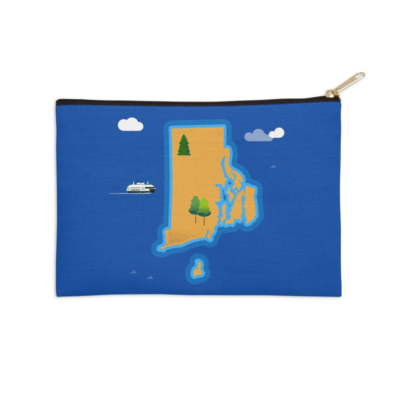 Rhode Island island Accessories Zip Pouch by Illustrations by Phil