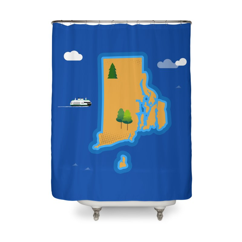 Rhode Island island Home Shower Curtain by Illustrations by Phil