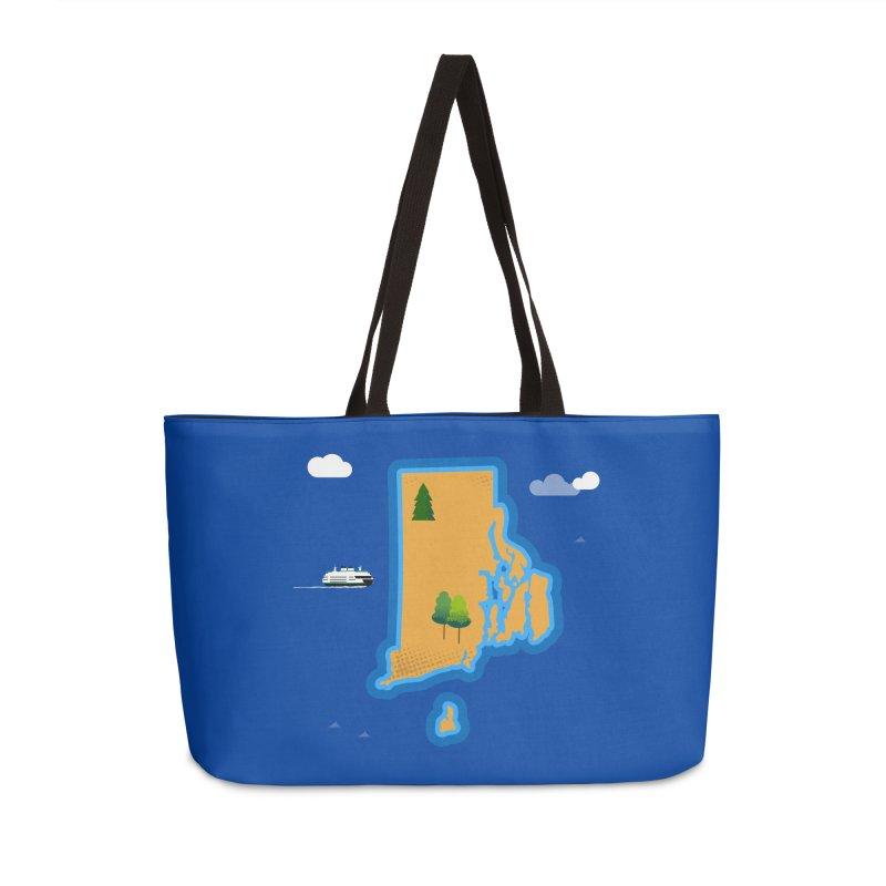 Rhode Island island Accessories Weekender Bag Bag by Illustrations by Phil