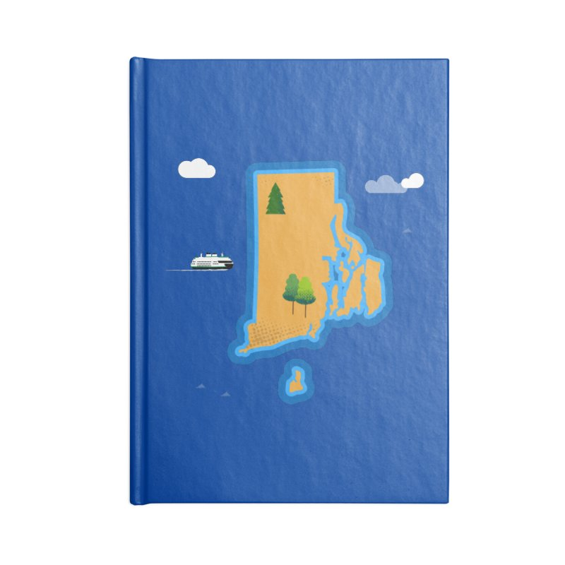 Rhode Island island Accessories Lined Journal Notebook by Illustrations by Phil