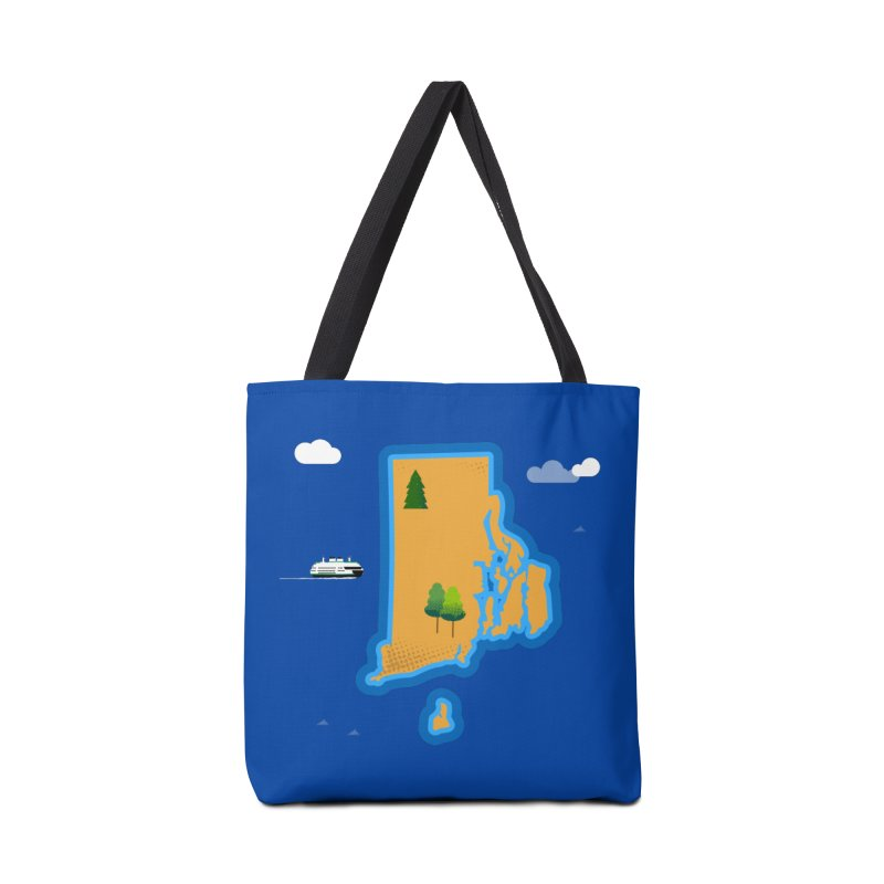 Rhode Island island Accessories Bag by Illustrations by Phil
