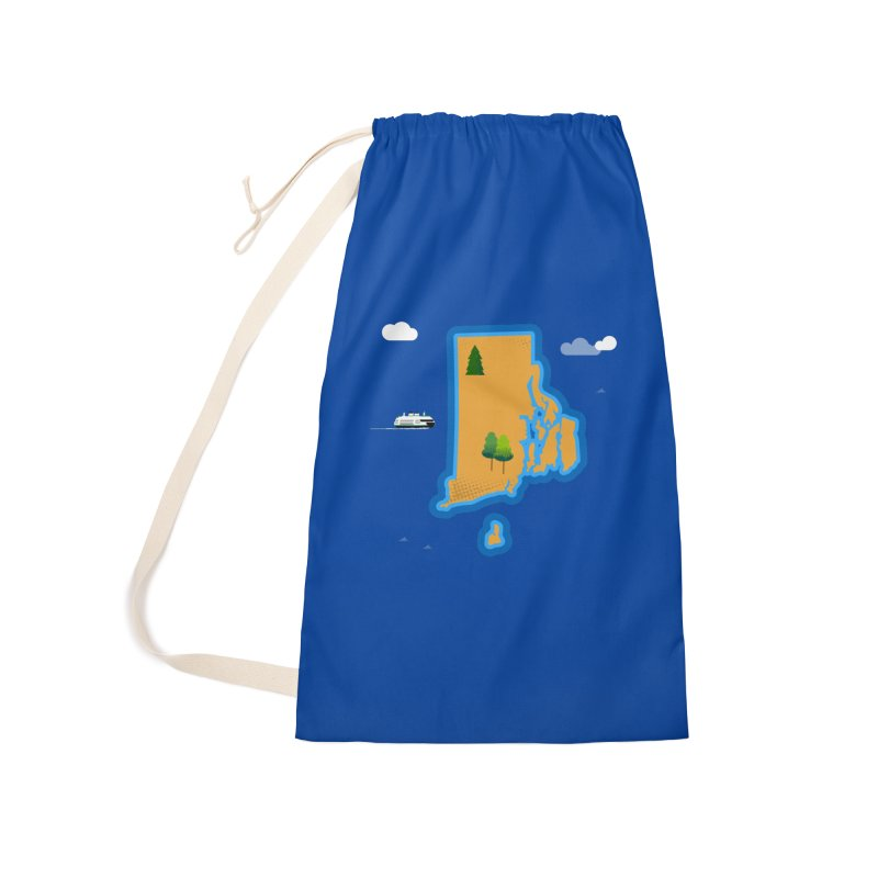 Rhode Island island Accessories Laundry Bag Bag by Illustrations by Phil