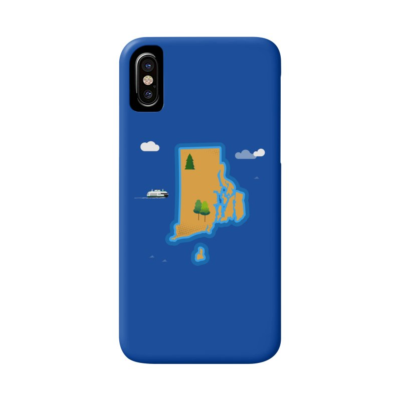 Rhode Island island Accessories Phone Case by Illustrations by Phil