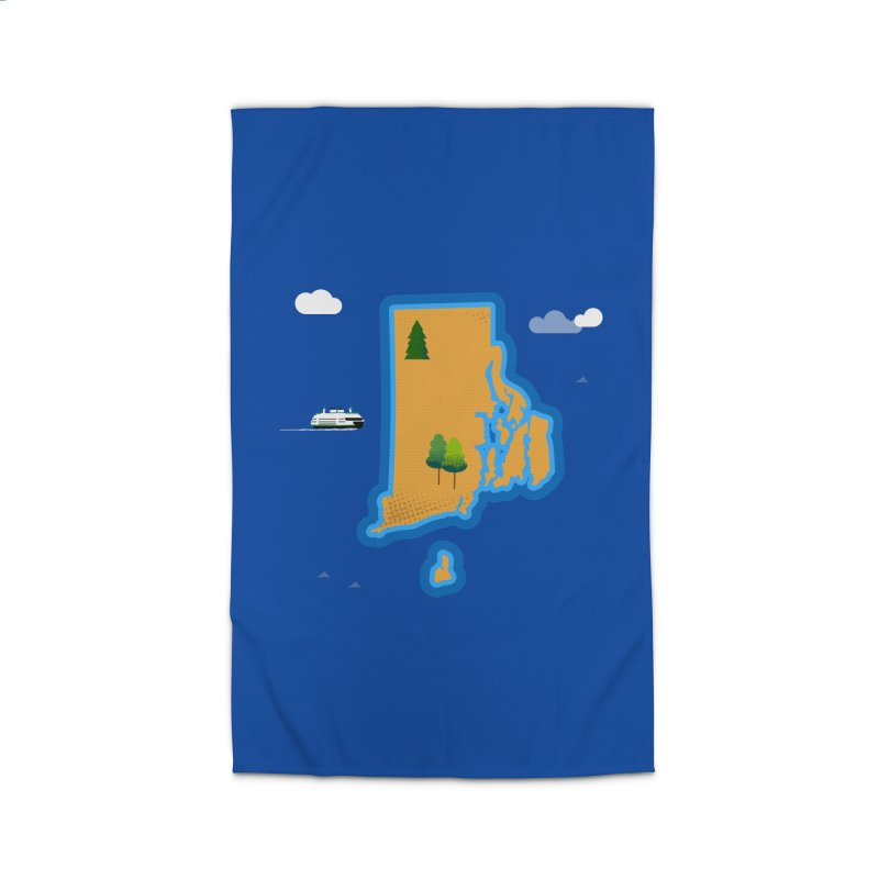 Rhode Island island Home Rug by Illustrations by Phil